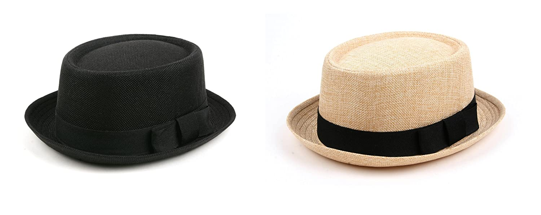 Fashion Porkpie Straw Fedora Hat 508HF