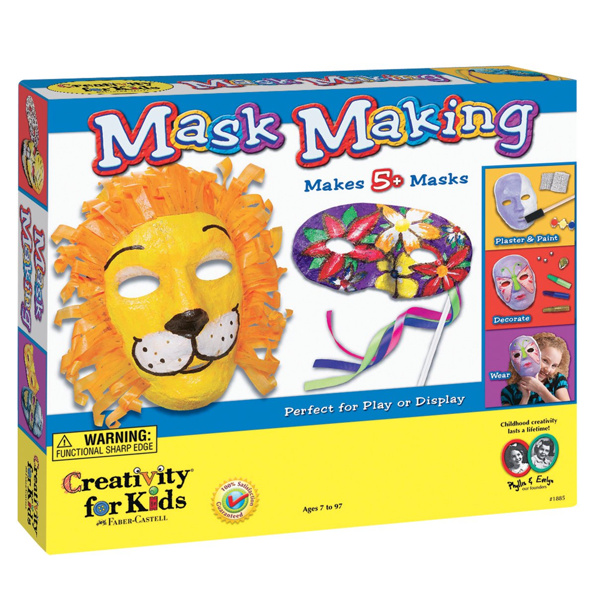 Plaster mask making kit for ages 7 plus