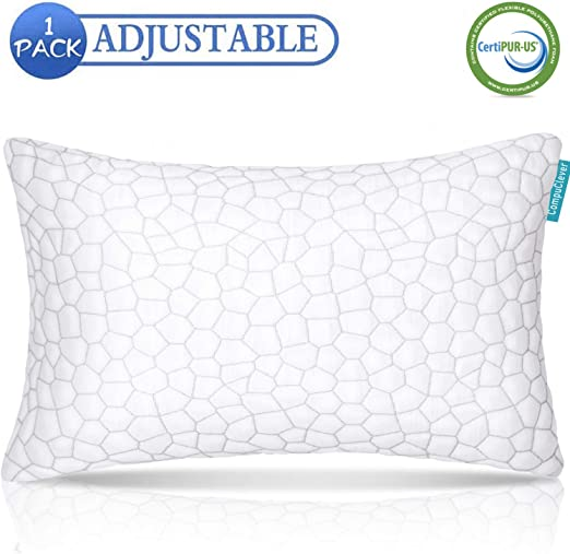 Amazon Com Shredded Memory Foam Pillow With Bamboo Cover Premium