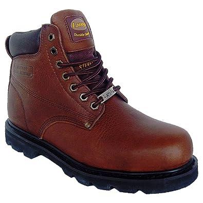 La Vega 8639 Mens Brown Leather Insulated Non Slip Steel Toe Work Boots  (7.5 M 458c8fb01ca9