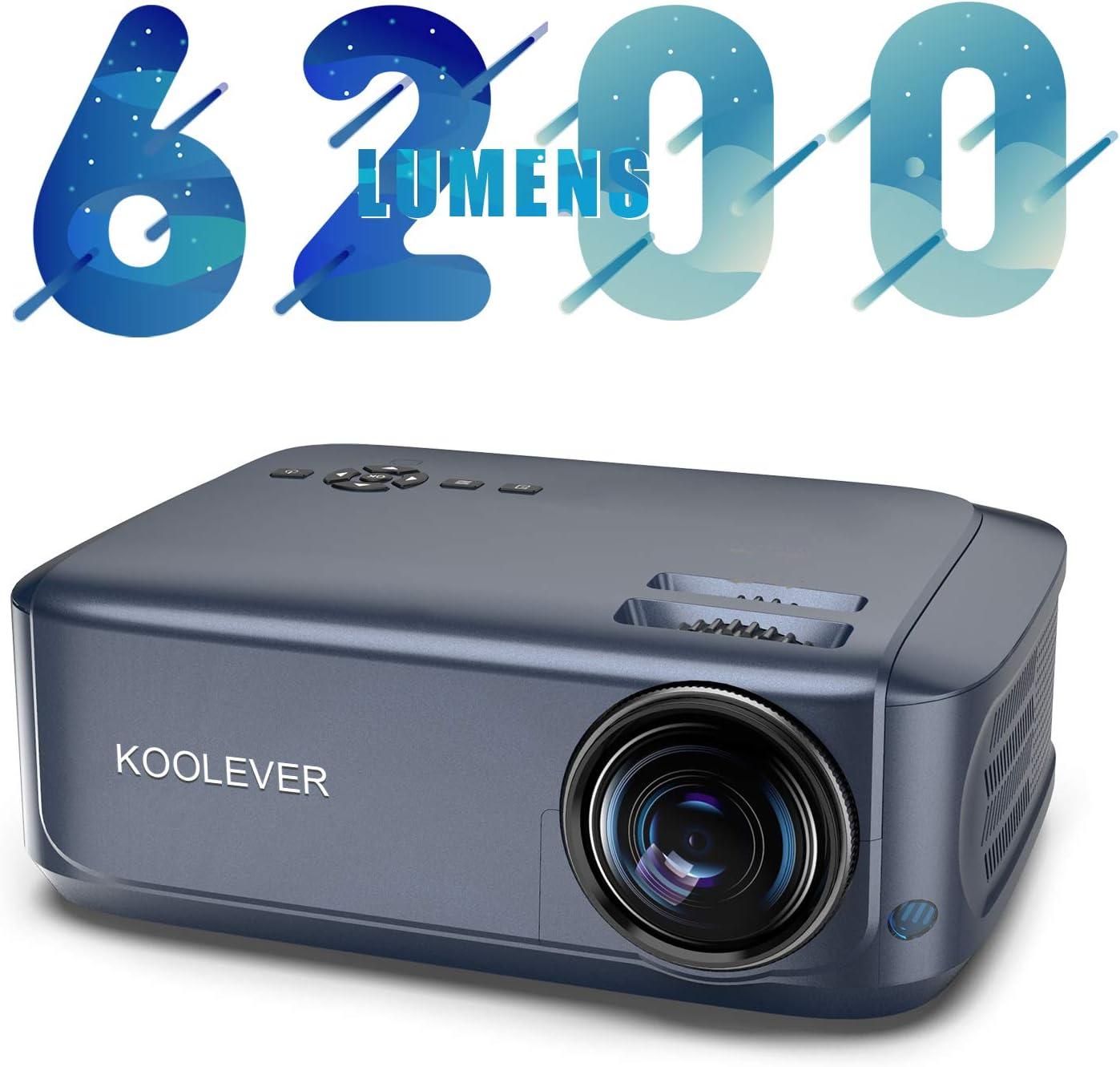 Proyector, KOOLEVER 6200 Lúmenes Proyector Full HD 1920x1080P ...