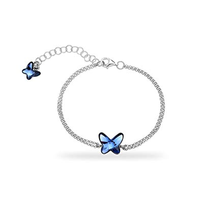 Armband silber blau
