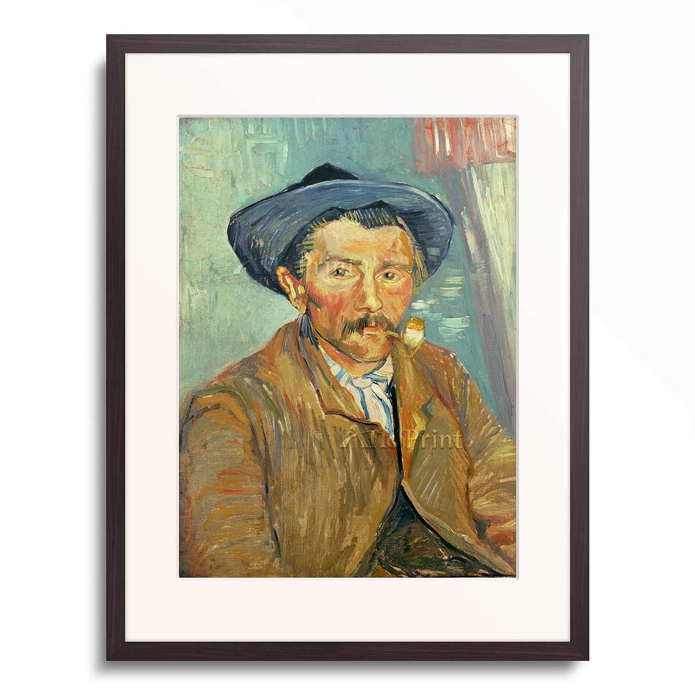 フィンセントファンゴッホ Vincent Willem van Gogh 「Man with pipe」 額装アート作品 B07PGF16PY 03.木製額 12mm(墨) XL(額内寸 727mm×545mm) XL(額内寸 727mm×545mm) 03.木製額 12mm(墨)