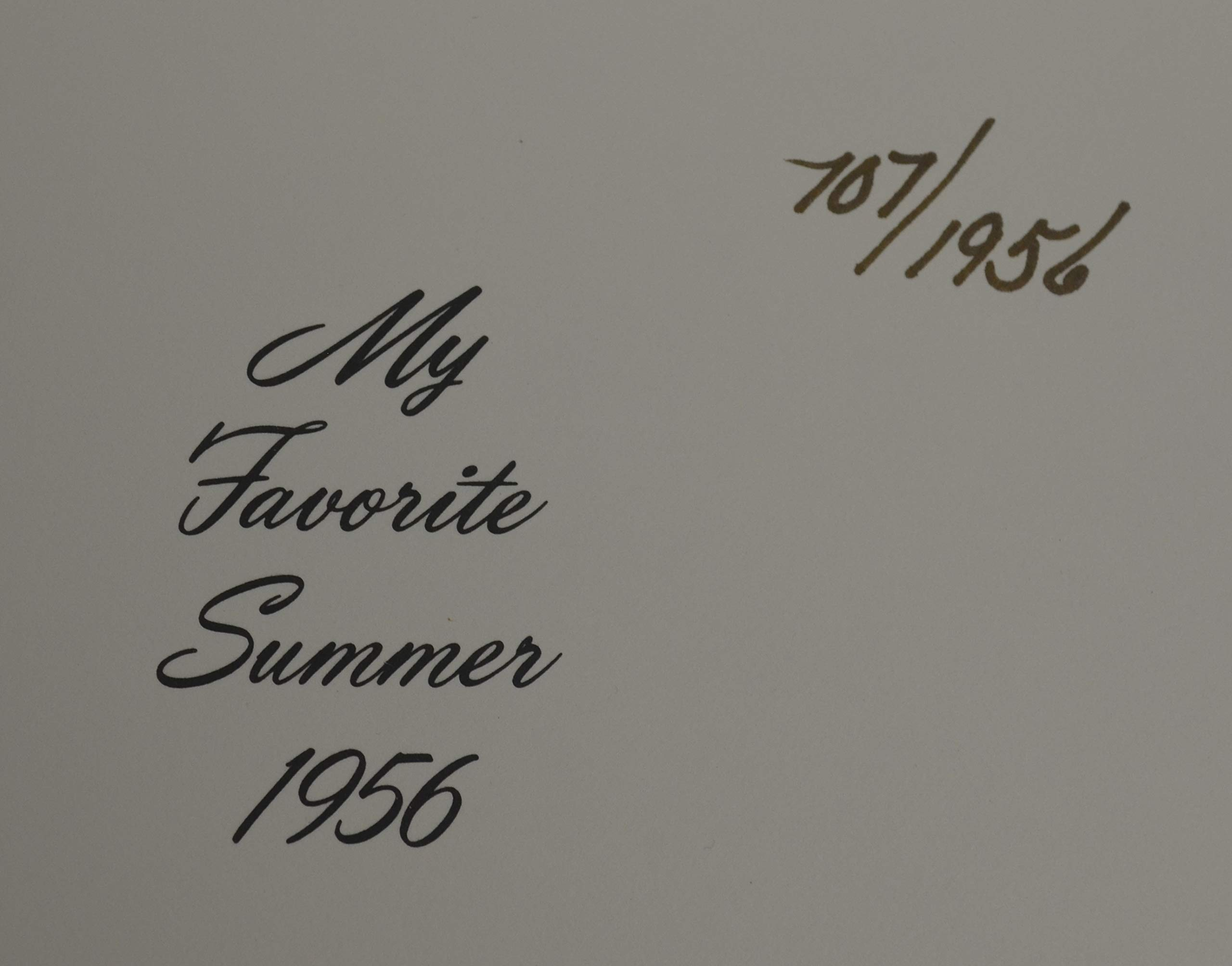 """Mickey Mantle Signed""""My Favorite Summer"""" Leatherbound Book New York Yankees PSA"""