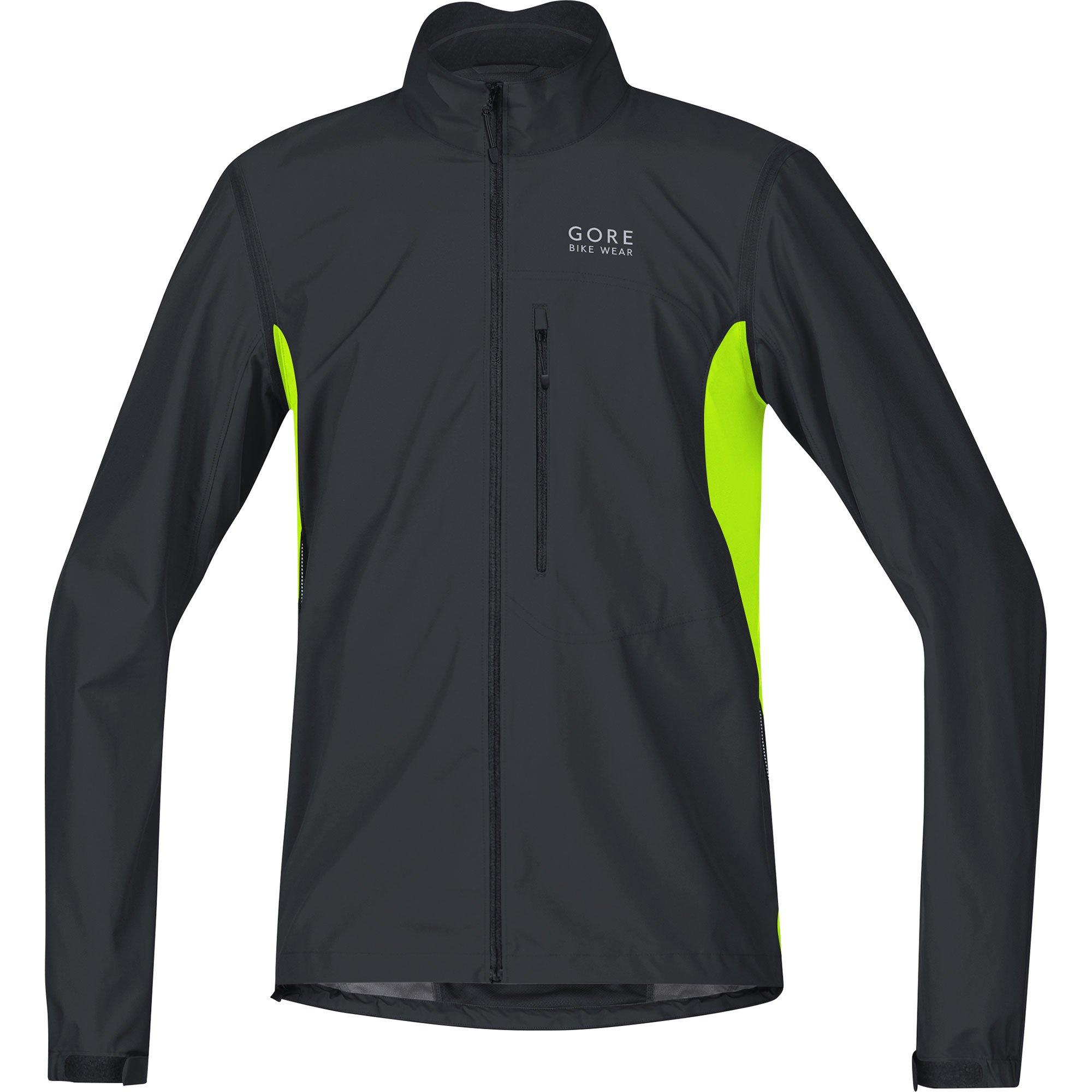 Gore Bike WEAR Men's Cycling Jacket, Super Light, Gore Windstopper, Jacket, Size: S, Black/Neon Yellow, JWELMZ by GORE WEAR (Image #1)