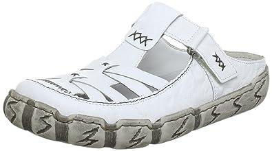 Rieker Schuhe Pantolette L0396 80 weiss wei NEU