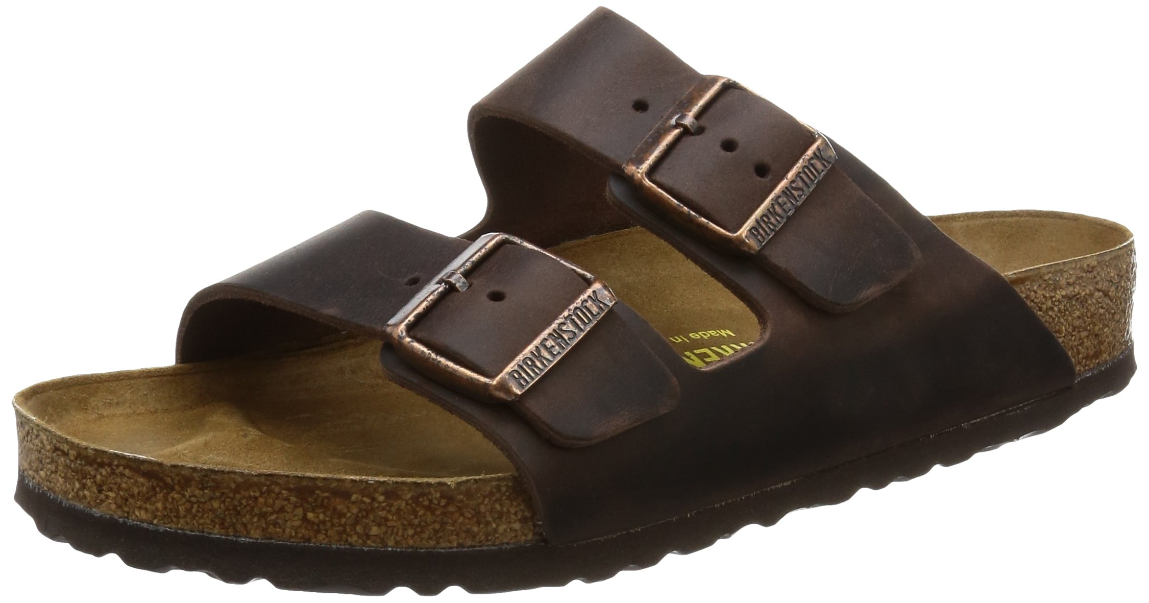 Birkenstock Unisex Arizona Sandal,Habana Oiled Leather,44 M EU