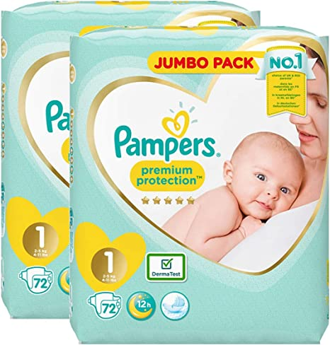 Pampers New Baby 96 Nappies 2-5 kg Size 1