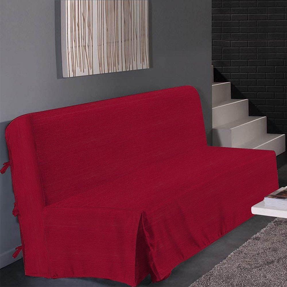 Dimensions Best Interior Housse de clic clac Marie satin/é Brillant Chocolat 200x200cm