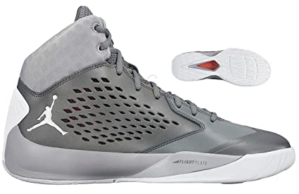 on sale b4c24 8aa9a ... netherlands nike mens air jordan rising high flight speed basketball  shoe flywire wolf grey white 4845f