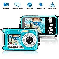 Underwater Camera 24.0MP Waterproof Digital Camera Full HD 1080p Selfie Dual Screen Video Recorder Point and Shoot Digital Camera