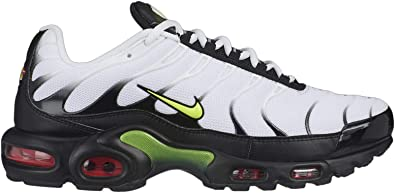 Amazon Com Nike Men S Air Max Plus White Volt Black Bright