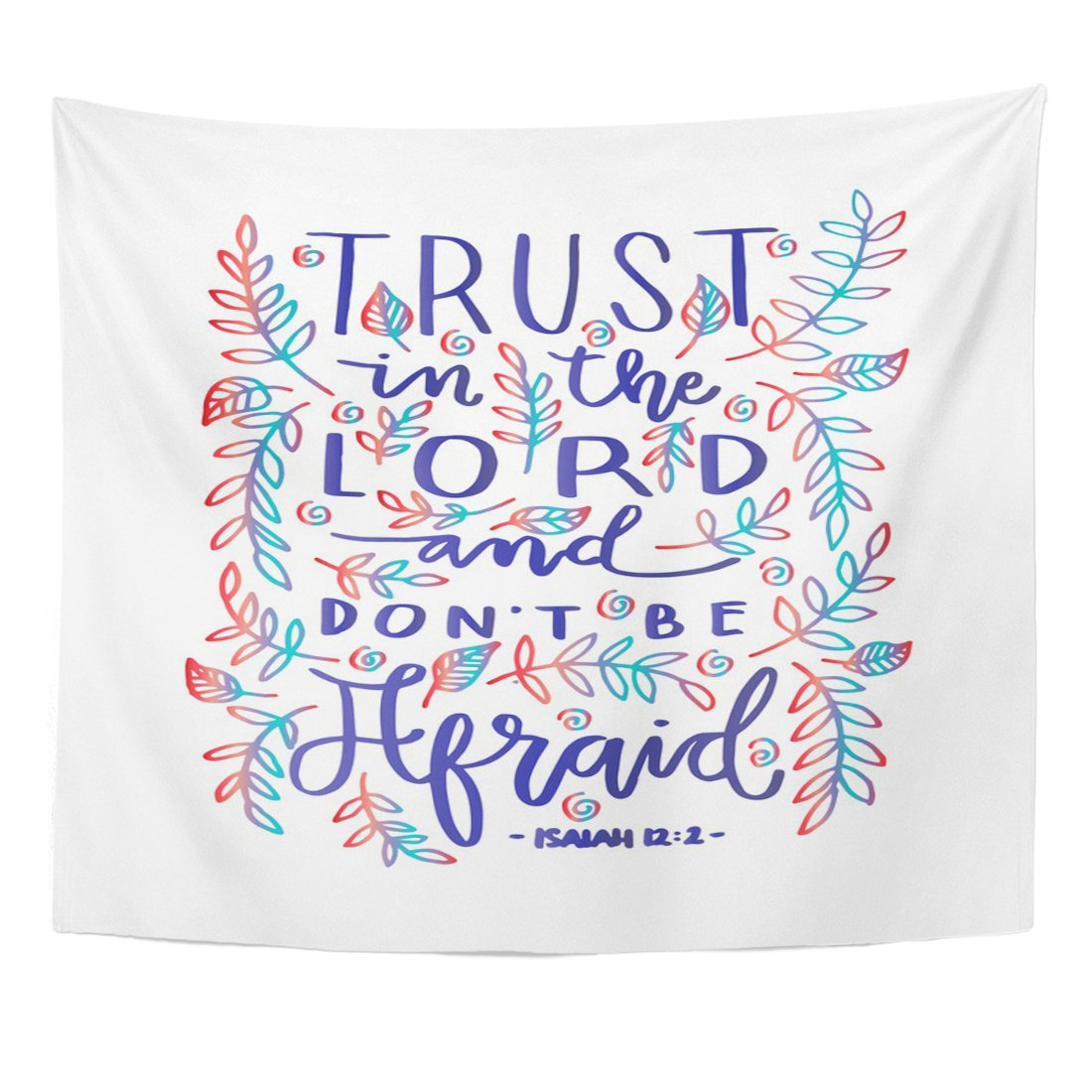 VaryHome Tapestry Faithful Trust in the Lord Bible Verse Hand Lettered Quote Modern Calligraphy Christian Gospel Home Decor Wall Hanging for Living Room Bedroom Dorm 50x60 Inches