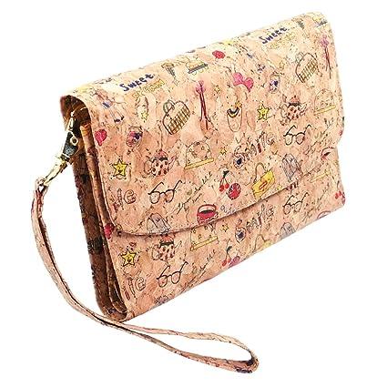 VEGAN Monedero Cartera compacta con bolsillo para smartphone ...