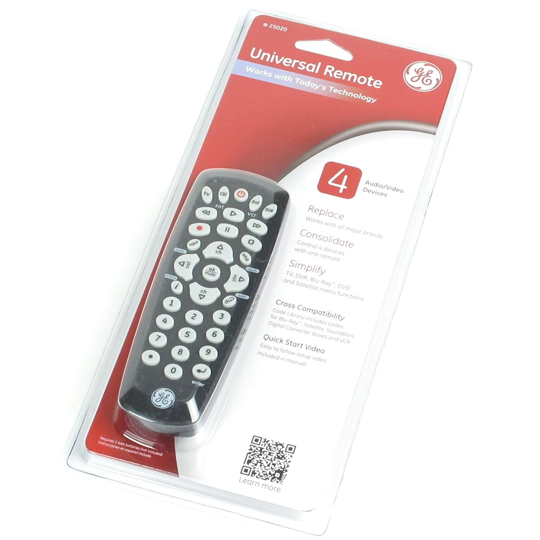 Ge Remote Access Amazoncom Ge 4 Device Universal Remote Control For Audio Video