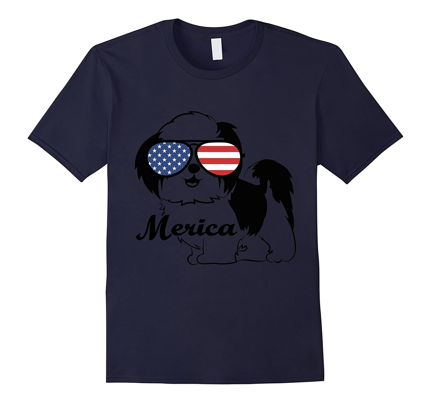 Merica Memorial Day Shih Tzu T-Shirt-Art