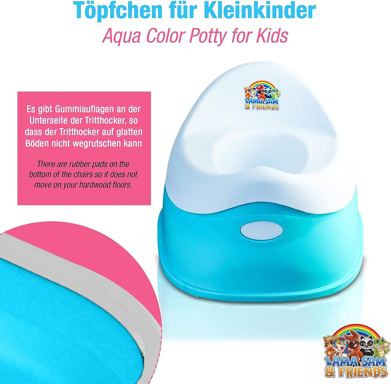 Lama Sam /& Friends Pot en plastique intelligent pour b/éb/é et enfant aqua