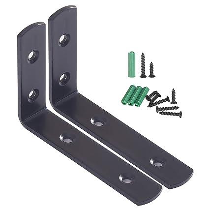 WEBI L Brackets Corner Bracket,90 Degree Steel Corner Brace- 2 Packs, 4