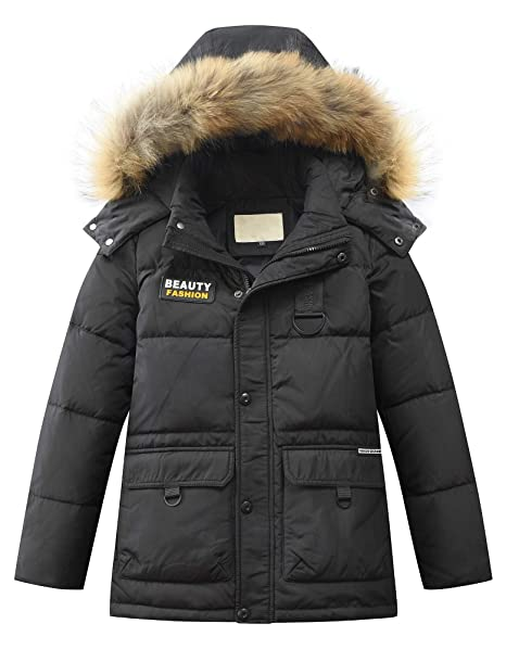 f3f27cbfb Toddler Kid Child Boy Hooded Thick Winter Parka Mid/Long Duck Down Puffer  Padded Overcoat Jacket