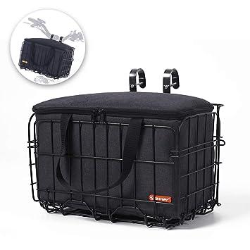 Amazon.com: onway cesta delantera manubrio cesta cesta de ...