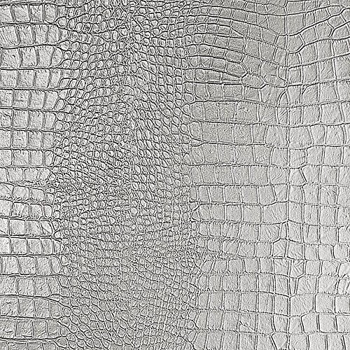 WallFace 13800 CROCO NOVA Wall panel leather 3D interior decoration luxury wallcovering self-adhesive Platin | 2,60 sqm by Wallface (Image #5)