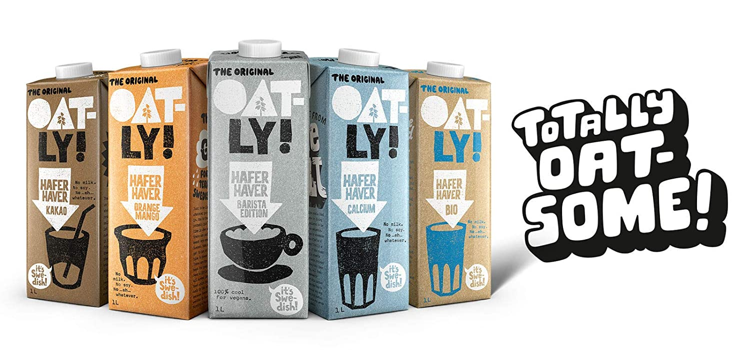 Oatly - Oat Drink - Foamable - 1L (Case of 6): Amazon.es: Alimentación y bebidas