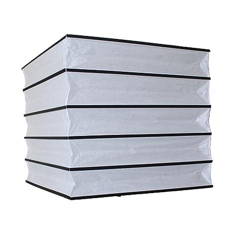 6920b-30 cm cuadrado negro y blanco linterna de papel ...