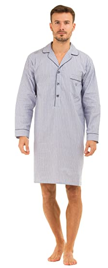 Haigman Nightwear Mens Lightweight Poplin 100% Cotton 7391 Nightshirt   Amazon.co.uk  Clothing 314049f0b