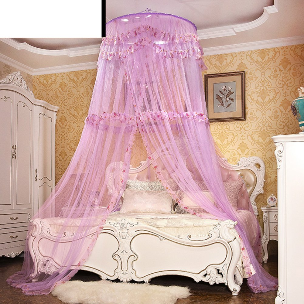 European-style Encrypted Ceiling Mosquito Nets/Floor Round Head Mosquito Net/Ceiling Princess,Top Hanging Mosquito Net/Increase The Palace Korean Mosquito Net-I E