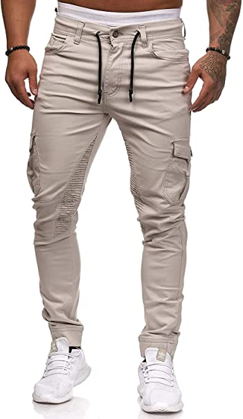 Herren Hose Jogger Chino Cargo Jeans Hosen Stretch Sporthose