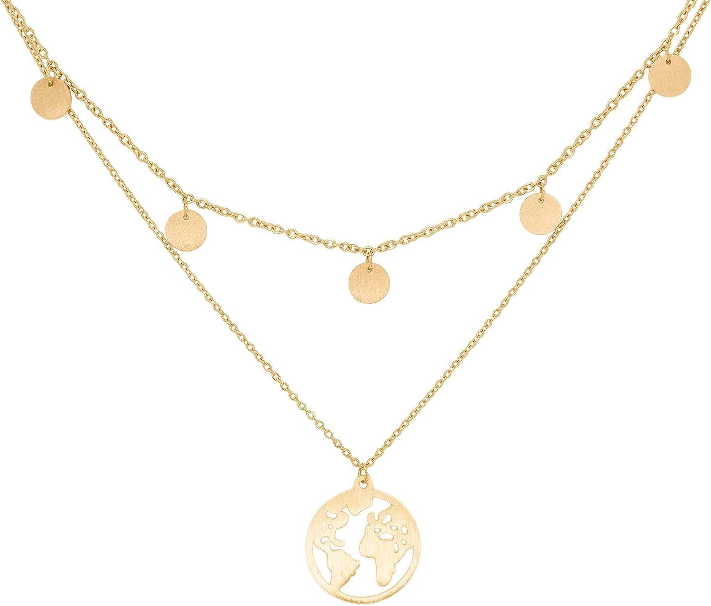 or et rose a little something /® Collier Praga Collier femme plaqu/é or 18 carats   Avec bo/îte /à bijoux