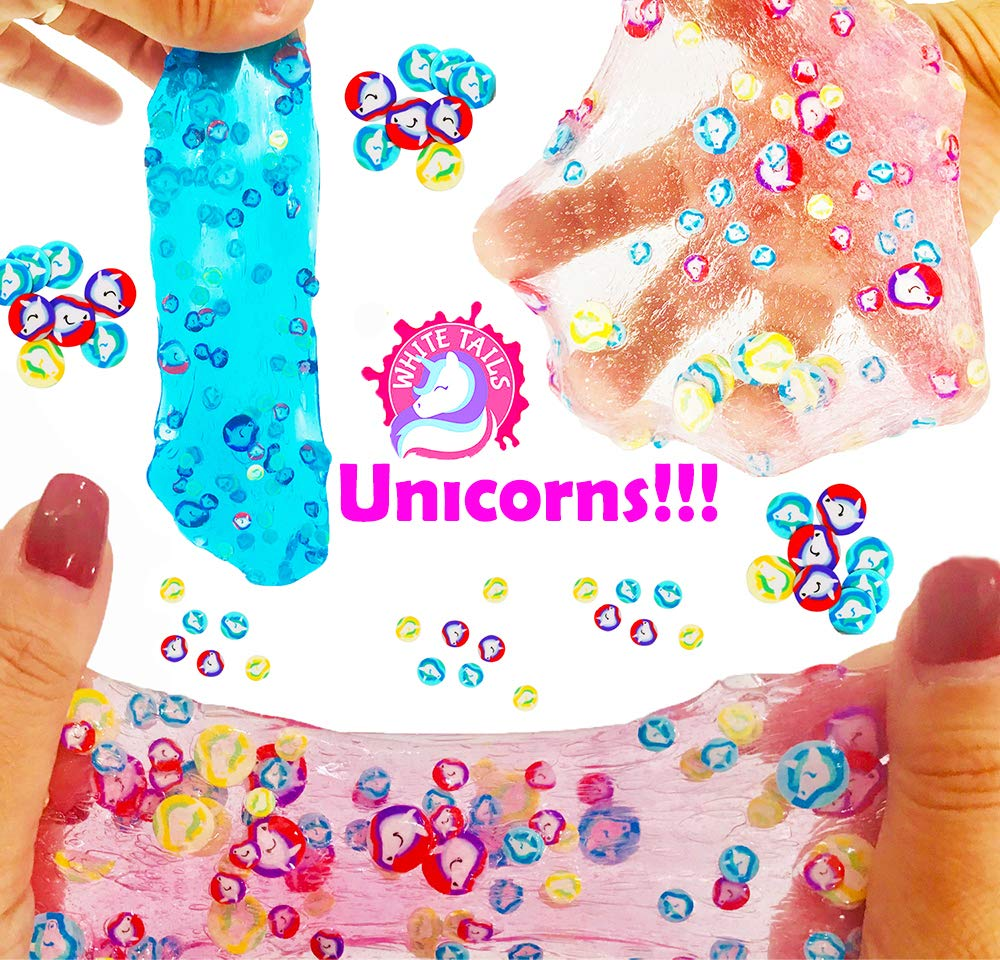 White Tails Unicorn Slime Kit for Girls and Boys 12 Containers of Clear Slime for Kids by White Tails (Image #2)