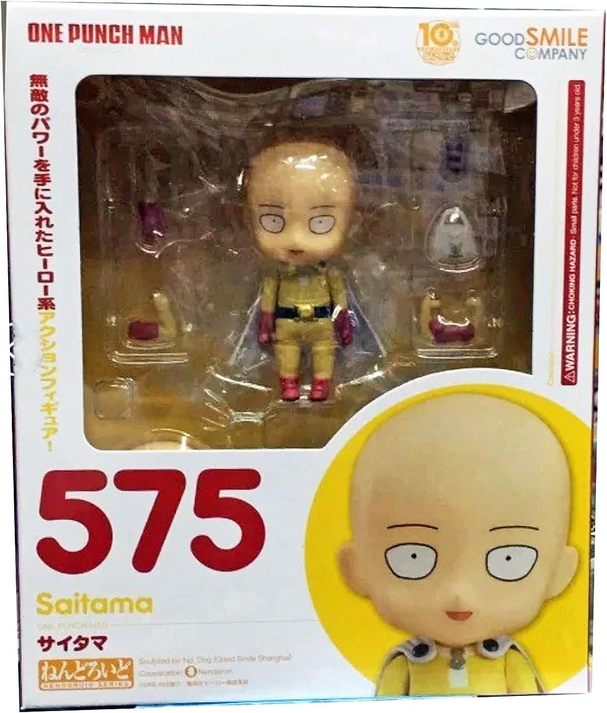 New Anime One Punch Man Hero Saitama Nendoroid 575 PVC Figure Toy Gift .