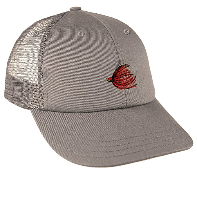 b76ee43bc91a3 Image Unavailable. Image not available for. Color  Sport Fishing Bass Jig  Embroidery Unisex Adult Snaps Cotton Low Crown Mesh Golf Snapback Hat Cap