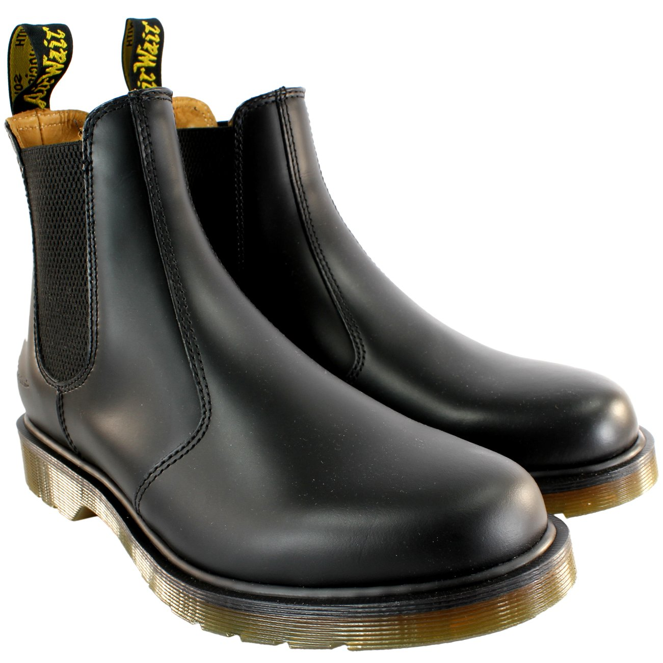 Womens Dr Martens Airwair Leather Chelsea Style Low Heel Ankle Boot - Black - 10
