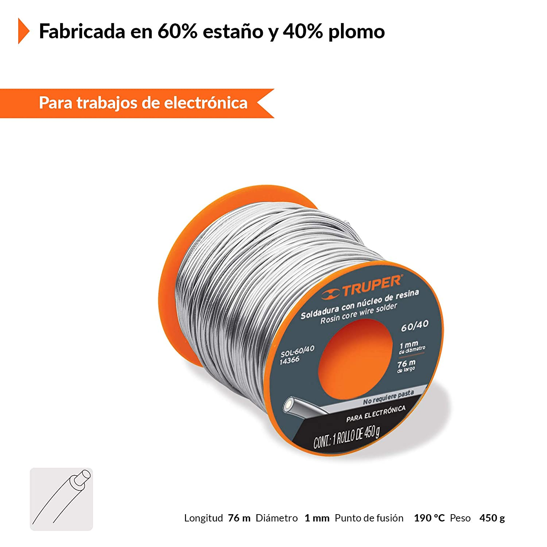 Truper 14366 Electronic Solder 60/40 Centricore - - Amazon.com