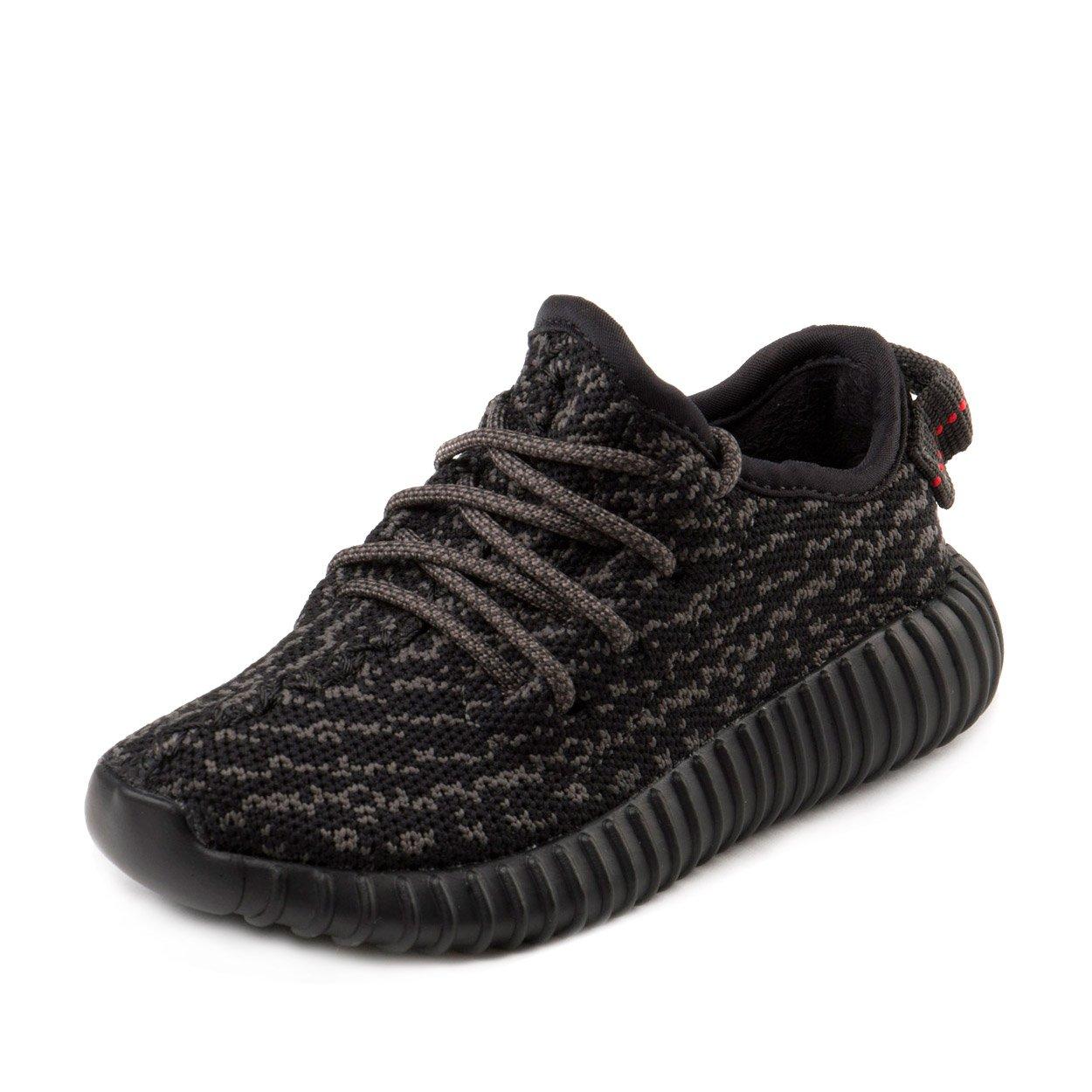 Adidas Baby Boys Yeezy Boost 350 Infant Pirate Black Pirate Black Fabric Size 10K