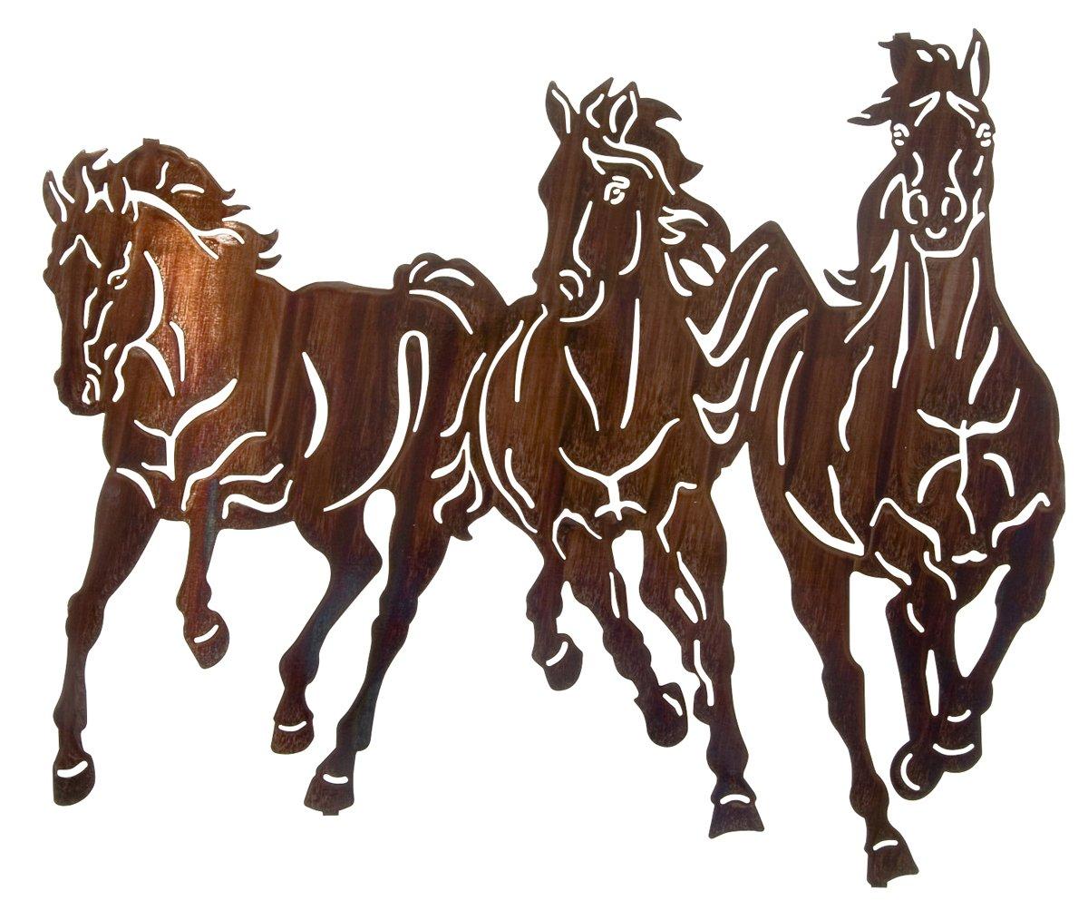 22'' Thunderstorm (Horses) Metal Wall Art