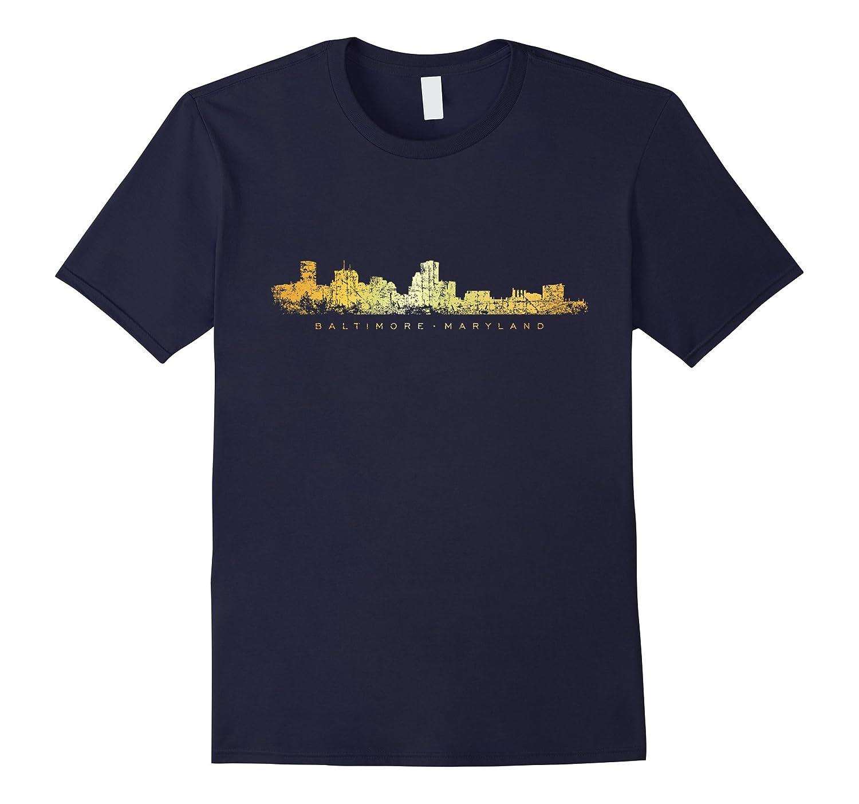 Baltimore Skyline T-Shirts (Ancient Gold)-ANZ