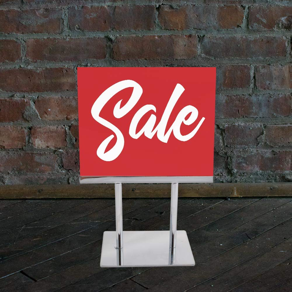 "/""Sale/"" Red with White Print Script Style on Card Stock 10//CTN. NAHANCO CD57S1-10 Retail Sign Card for Displays 5 /½/""H x 7/""W"