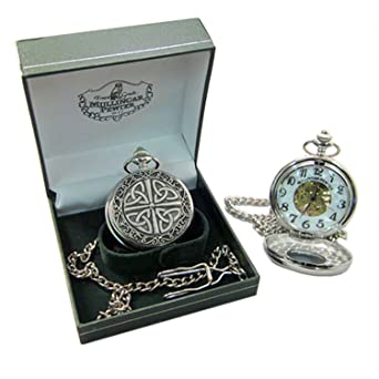 f2870e9f5 Amazon.com: Mullingar Pewter Trinity Knot Pocket watch: Watches
