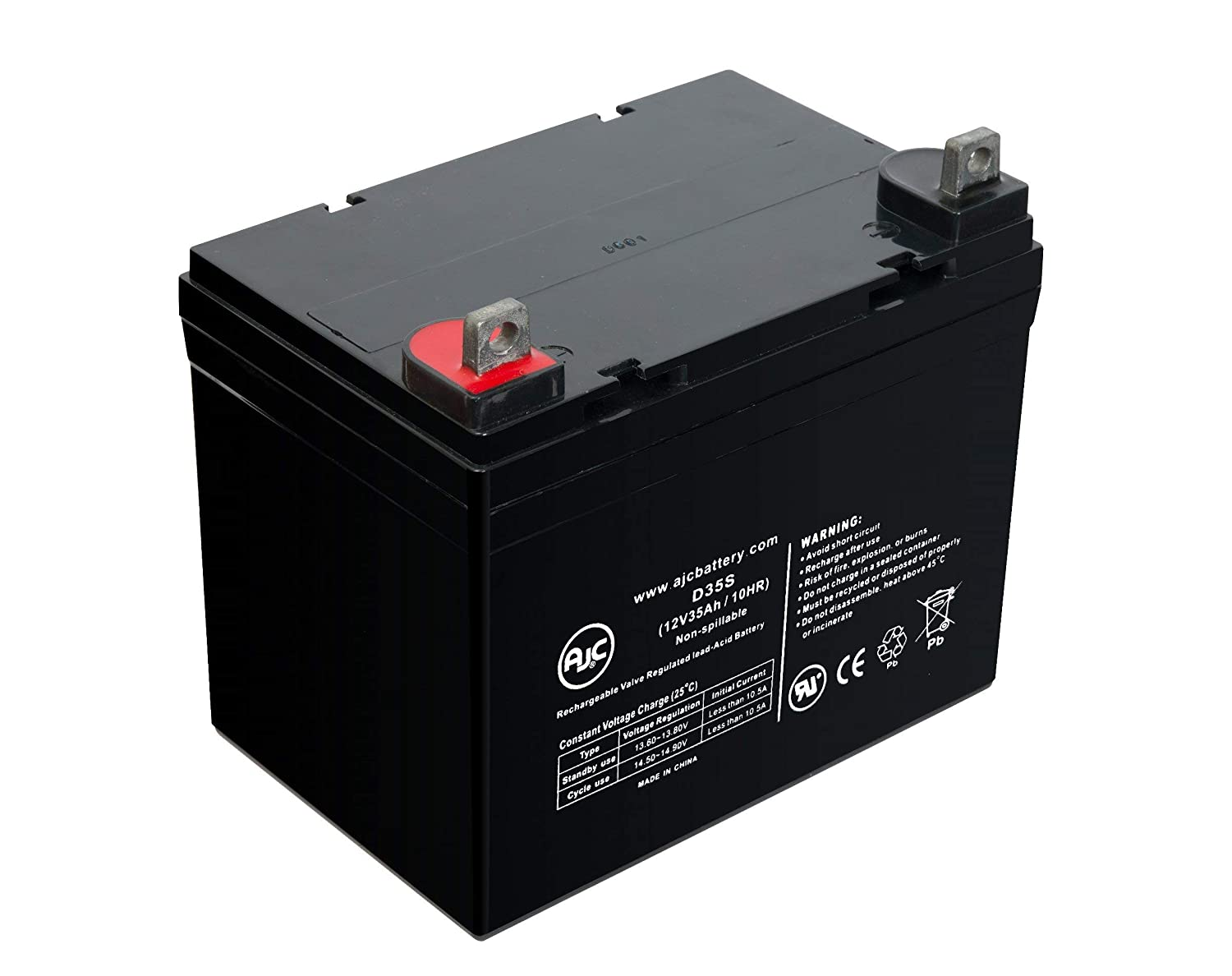 Ritar 12V 33Ah 12V 35Ah Sealed Lead Acid Battery - This is an AJC Brand Replacement AJC Battery