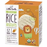 Little Turtle Rice Biscuits, Organic Mango Flavor, 12 Count (Pack of 4)