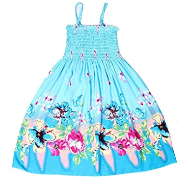 d45c47ef4c1 Fille Robes Filles D été Robe Orange Fleur Filles Robes De Plage Princesse Robe  Robes
