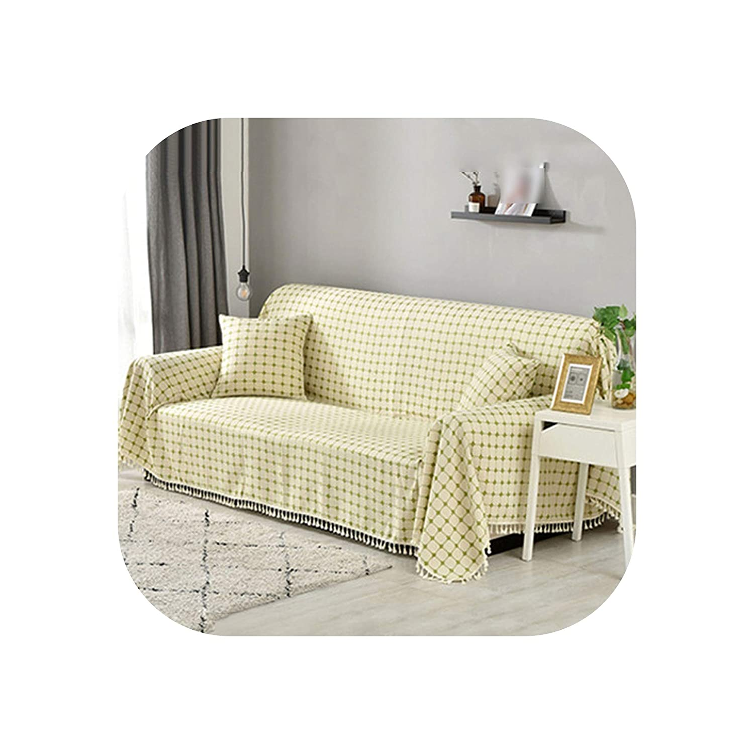 Amazon.com: U-See Cotton and Linen Sofa Cover All Inclusive Sillones ...