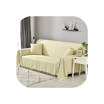 Amazon.com: U-See Cotton and Linen Sofa Cover All Inclusive ...