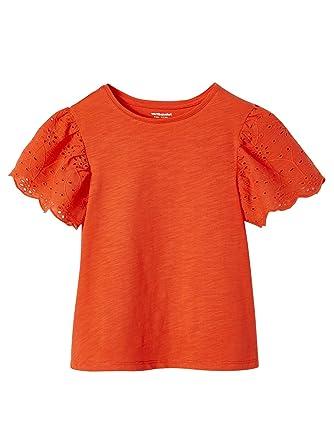 b9df0e3bff53d Vertbaudet T-Shirt Fille Manches en Broderie Anglaise  Amazon.fr ...