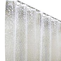 MeCare Rideaux de Douche 120x 180cm 3D étanche et résistant aux moisissures Semi-Transparent Rideau de Salle de Bain avec 8Crochets