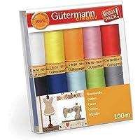 Gutermann 734521-2 - Juego de hilos (algodón natural