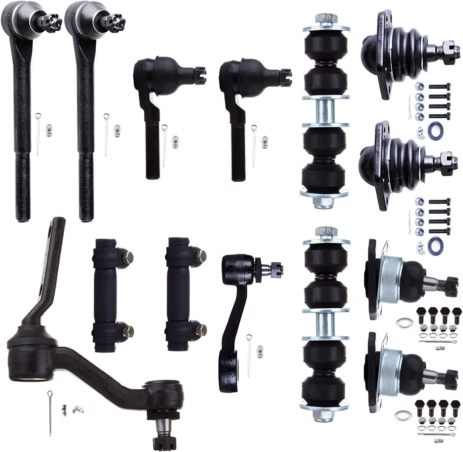 INEEDUP NEW 14 Set of Ball Joint Tie Rod Ends Front Sway Bar Links Idler Arm Pitman Arm Adjusting Sleeve Compatible with for Chevrolet Blazer S10 GMC Jimmy Sonom Isuzu Hombre Oldsmobile Bravada